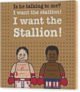 My Rocky Lego Dialogue Poster Wood Print