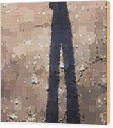 My Shadow Standing Wood Print