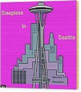 My Sleepless In Seattle Movie Poster Wood Print