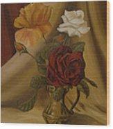 My Small Roses Wood Print