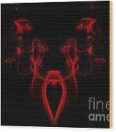 My Smoking Heart Red Wood Print