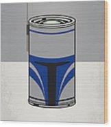 My Star Warhols Jango Fett Minimal Can Poster Wood Print