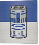 My Star Warhols R2d2 Minimal Can Poster Wood Print