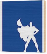 My Superhero 03 Super Blue Minimal Poster Wood Print