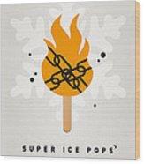 My Superhero Ice Pop - Ghost Rider Wood Print