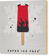 My Superhero Ice Pop - Hellboy Wood Print