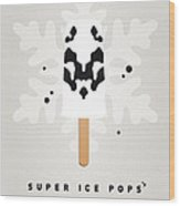 My Superhero Ice Pop - Rorschach Wood Print by Chungkong Art