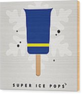 My Superhero Ice Pop - The Beast Wood Print by Chungkong Art