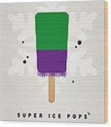 My Superhero Ice Pop - The Hulk Wood Print