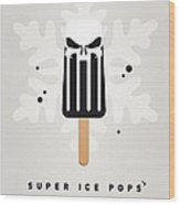 My Superhero Ice Pop - The Punisher Wood Print by Chungkong Art