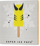 My Superhero Ice Pop - Wolverine Wood Print
