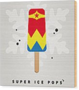My Superhero Ice Pop - Wonder Woman Wood Print