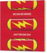 My Superhero Pills - The Flash Wood Print