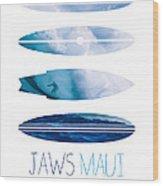 My Surfspots Poster-1-jaws-maui Wood Print