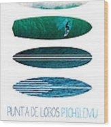 My Surfspots Poster-3-punta De Lobos-chile Wood Print by Chungkong Art