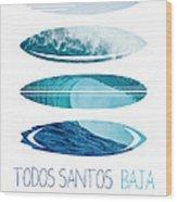 My Surfspots Poster-6-todos-santos-baja Wood Print