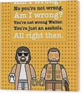 My The Big Lebowski Lego Dialogue Poster Wood Print