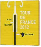 My Tour De France 2012 Minimal Poster Wood Print