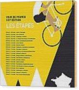 My Tour De France Minimal Poster 2014-etapes Wood Print