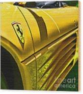 My Yellow Ferrari Wood Print