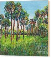 Myakka Palms Wood Print