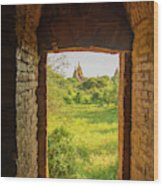 Myanmar Bagan View Of Some Pagodas Wood Print
