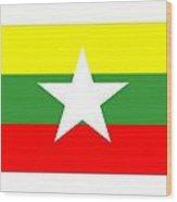 Myanmar Flag Wood Print