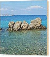 Mykonos Blue Aegean Wood Print