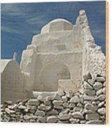 Mykonos Church Wood Print