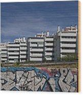 Myramar Apartments With Graffiti Wood Print