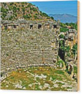 Myra's Roman Theatre In Fourth Century-turkey Wood Print
