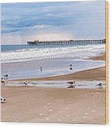 Myrtle Beach - Rainy Day Wood Print