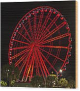 Myrtle Beach Sky Wheel Wood Print