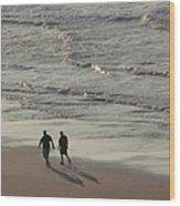 Myrtle Beach Walking Buddies Wood Print