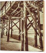 Myrtle Pier  Wood Print
