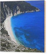 Myrtos Beach Kefalonia Greece  Wood Print