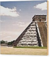 Mysterious Chichen Itza Wood Print