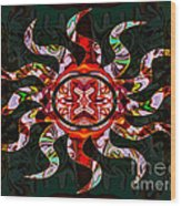 Mysterious Circumstances Abstract Sun Symbol Artwork Wood Print