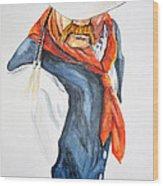 Mysterious Cowboy Wood Print