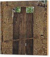 Mysterious Door Wood Print
