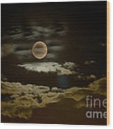 Mysterious Moon Wood Print