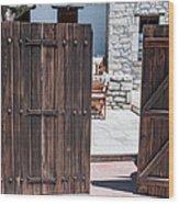 Mystery Courtyard Wood Print