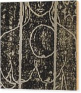 Mystery Lady Wood Print