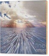 Mystery Sea Wood Print