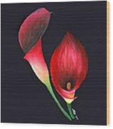 Mystic Calla Lillies Wood Print