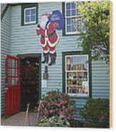 Mystic Christmas Shop - Connecticut Wood Print