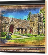 Mystic Church - Featured In Comfortable Art Group Wood Print