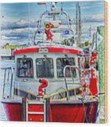 Mystic Fireboat Wood Print