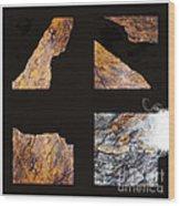 Mystic Fractures L Wood Print