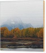 Mystic Grand Teton  Wood Print